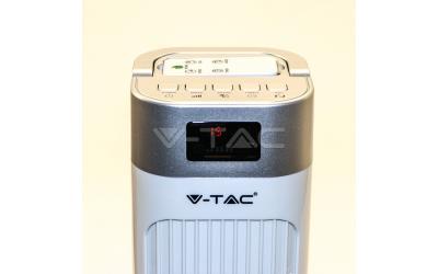 Ventilátor stojanový 90 cm 55 W s dálovým ovládáním bílý