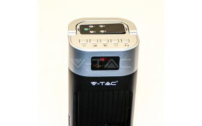 Ventilátor stojanový 120 cm 55 W s dálovým ovládáním černý