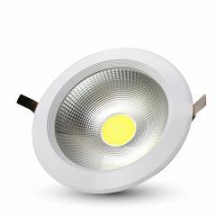 LED downlight kruh 30 W teplá bílá A++ vysokosvítivé