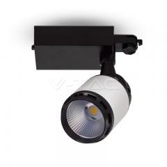 LED lištové svítidlo bílo-černé 35 W studená bílá 24°