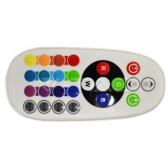 IR ovládač pro RGB LED pásky a žárovky 6A