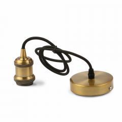 Kovový úchyt na E27 žárovku hnědý bronz