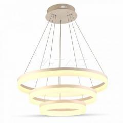 LED lustr závěsný 80 W 3-kruhový stmívatelný denní bílá