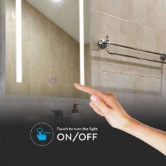 LED koupelnové zrcadlo 27 W s měnitelnou barvou světla protizahmlívací systém dotykové ovládaní
