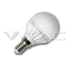 LED žárovka E14 hruška 4 W studená bílá