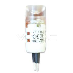 LED bodová žárovka G4 1,2 W studená bílá 12 V