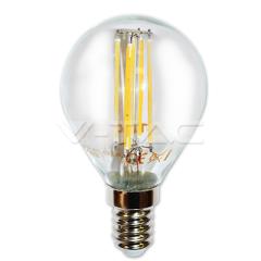 LED žárovka filament E14 hruška 4W teplá bílá sko