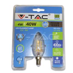LED retro žárovka svíčka E14 4 W teplá bílá blistr