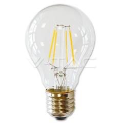 LED žárovka filament 4 W E27 teplá bílá stmívatelná číra