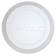 LED přisazený kruhový panel TWIN panel 18+4 W denní bílá