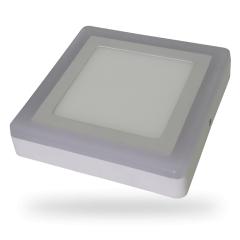 LED přisazený panel TWIN LED čtverec 6+2 W denní bílá