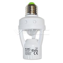 Pohybový senzor do E27 patice na E27 žárovku