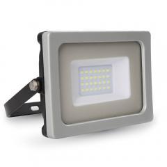 LED reflektor SMD SLIM 20 W teplá bílá, šedo-černý