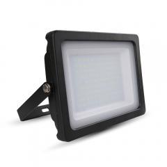 LED reflektor SLIM SMD 100 W studená bílá černý