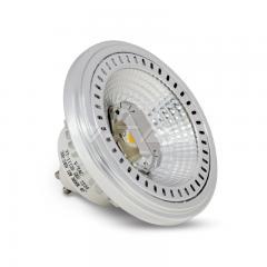 Stmievateľná AR111 bodová LED žárovka GU10 12 W teplá bílá 40° hliníková