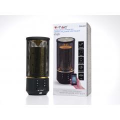 Bluetooth přenosný reproduktor FLAME černý 2 x 3 W