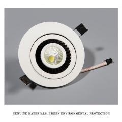 CALE LED downlight s otočným tělem 12 W teplá bílá bílé tělo
