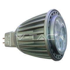 Bodová LED žárovka GU5.3 7W studená bílá šedá