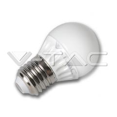 LED žárovka E27 koule G45 4 W teplá bílá plastová