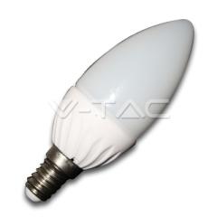 LED žárovka E14 svíčka 4 W denní bílá plastová