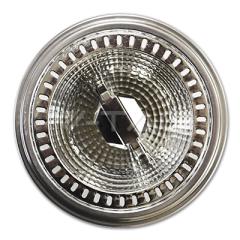 AR111 bodová LED žárovka GU10 12 W teplá bílá 40° hliníková