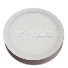 LED panel přisazený kruhový 22 W denní bílá bílý hliník