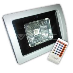 LED reflektor RGB 10 W s rádiovým dálkovým ovládaním, šedý